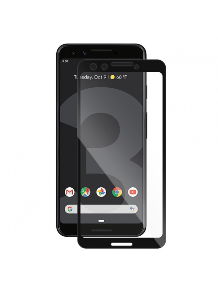 Folie Protectie Sticla Google Pixel 3 | Full Frame 3D Tempered Glass Vetter GO | Black 0