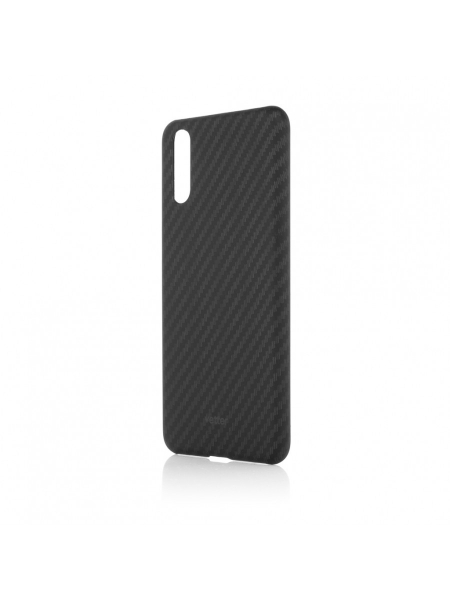 Husa Huawei P20 | Smart Case Carbon Design | Rubber Feel | Black 0