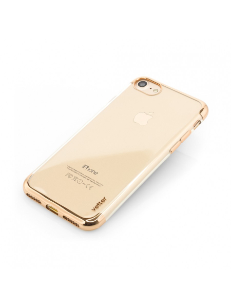 Husa iPhone 8, 7 | Clip-On Shiny Soft Series | Gold 2