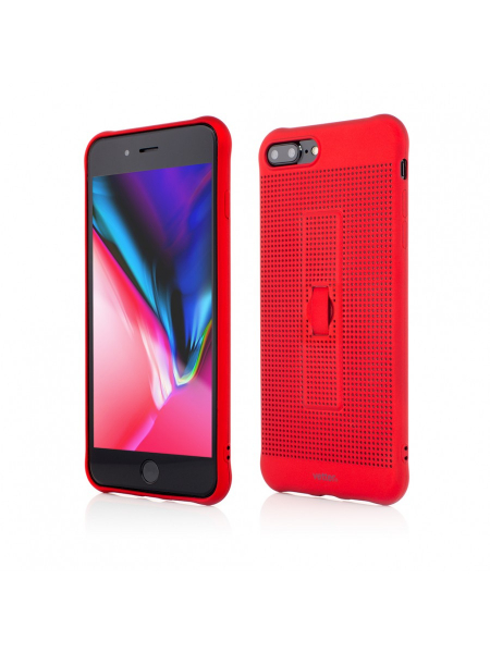 Husa iPhone 8 Plus, 7 Plus | Vetter GO | Vent Soft with Strap | Red 0