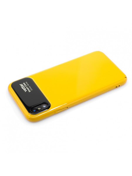 Husa iPhone X | Smart Case Glossy Series | Yellow 1