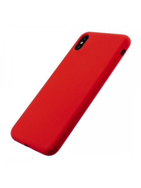 Husa iPhone XS, X | Clip-On Soft Touch Silk Series | Red 2