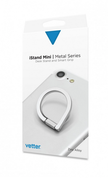 iStand Mini | Desk Stand and Smart Grip | Metal Series | Silver 0