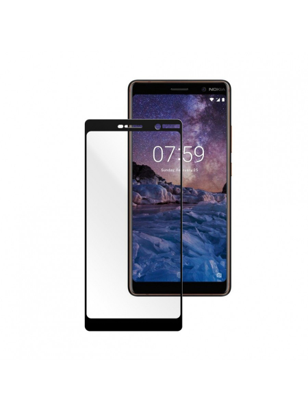 Folie Protectie Sticla Nokia 7 Plus (2018) | Full Frame Tempered Glass Vetter GO | Black 1