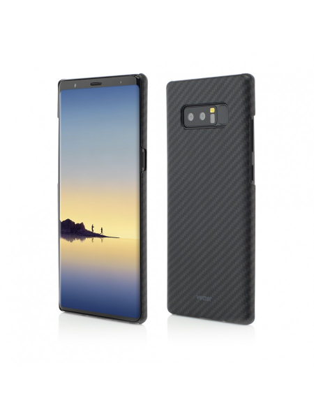 Husa Samsung Galaxy Note 8 | Smart Case Carbon Design | Rubber Feel | Black 0