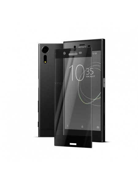 Folie Protectie Sticla Sony Xperia XZs | 3D Tempered Glass Easy Fit | Black 1