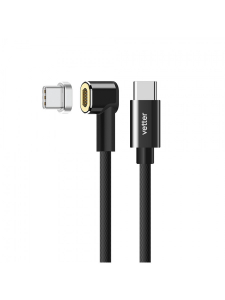 Cablu USB Type C Cable si Type C cu Conector Magnetic | Nylon Braided | Black [2]
