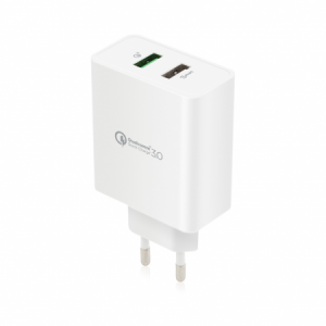 Incarcator Priza Rapid | with Quick Charge 3.0 and Smart Port | White0