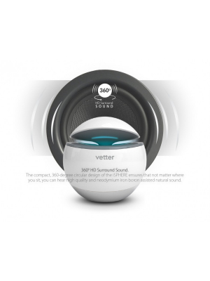 Boxa Bluetooth iSphere Surround | with Phone Call Function | White [2]
