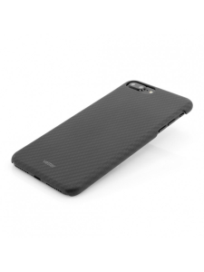 Husa iPhone 7 Plus | Smart Case Carbon Design | Rubber Feel | Black2