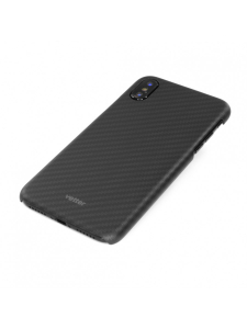 Husa iPhone XS, X | Smart Case Carbon Design | Rubber Feel | Black1