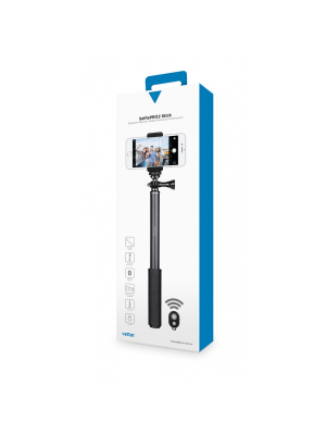 Selfie Stick Pro 2nd Gen Bluetooth | Aluminum Extendable | Black0