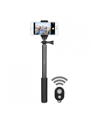 Selfie Stick Pro 2nd Gen Bluetooth | Aluminum Extendable | Black1