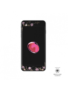 Folie Protectie Sticla iPhone 8, 7, 6s, 6 | Full Frame Tempered Glass | with Swarovski Crystals | Black2