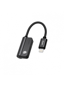 Adaptor Dual Lightning Audio | Charging and Music Playback | Black0