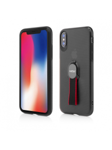 Husa iPhone XS, X | Smart Case Hybrid | with Removable Strap | Magnetic Ready | Black0
