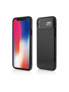 Husa iPhone X | Smart Case Glossy Series | Black0