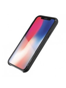 Husa iPhone XS, X | Clip-On Genuine Leather with Card Holder | Black [1]