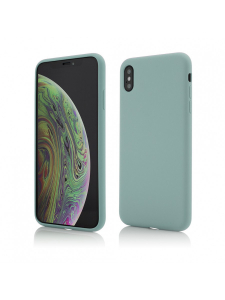 Husa iPhone XS Max | Clip-On Soft Touch Silk Series | Green0