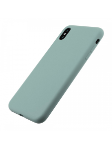 Husa iPhone XS Max | Clip-On Soft Touch Silk Series | Green2