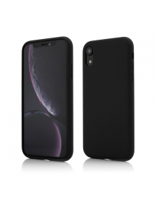 Husa iPhone XR | Clip-On Soft Touch Silk Series | Black0