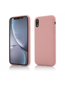 Husa iPhone XR | Clip-On Soft Touch Silk Series | Pink0