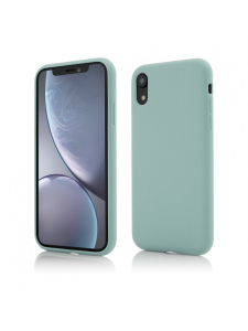 Husa iPhone XR | Clip-On Soft Touch Silk Series | Green0