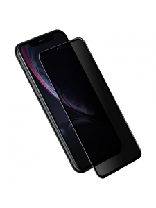 Folie Protectie Sticla iPhone XR | 3D Privacy Series | Black1