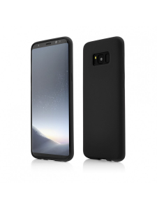 Husa Samsung Galaxy S8 Plus | Clip-On Soft Touch Silk Series | Black0