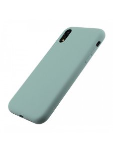 Husa iPhone XS, X | Clip-On Soft Touch Silk Series | Green2