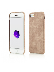 Husa iPhone 8, 7 | Clip-On Leather Feel | Gold0