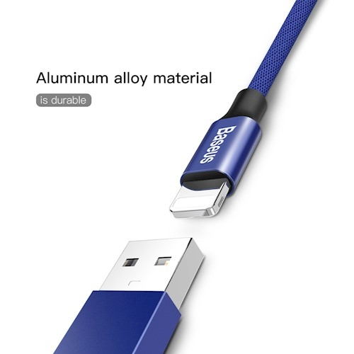 CABLU BASEUS YIVEN IPHONE 180cm, NAVY BLUE 4