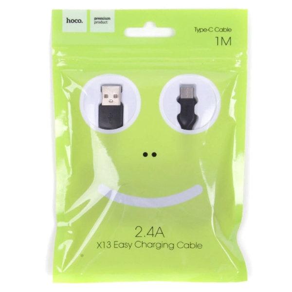 CABLU HOCO X13 EASY CHARGING MICRO USB 100CM, WHITE 0
