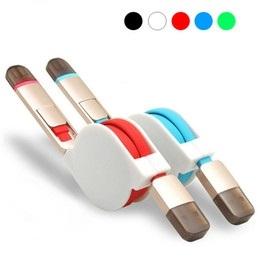 CABLU 2 in 1 IPHONE+MICRO USB RETRACTABIL, RED 0