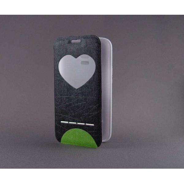 "Husa S-View ""LOVE"" Samsung GALAXY S5 Mini 0"