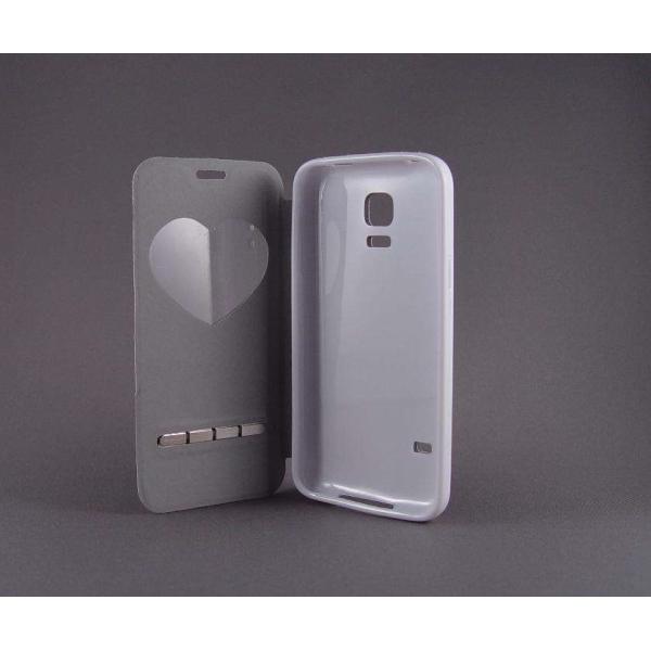 "Husa S-View ""LOVE"" Samsung GALAXY S5 Mini 2"
