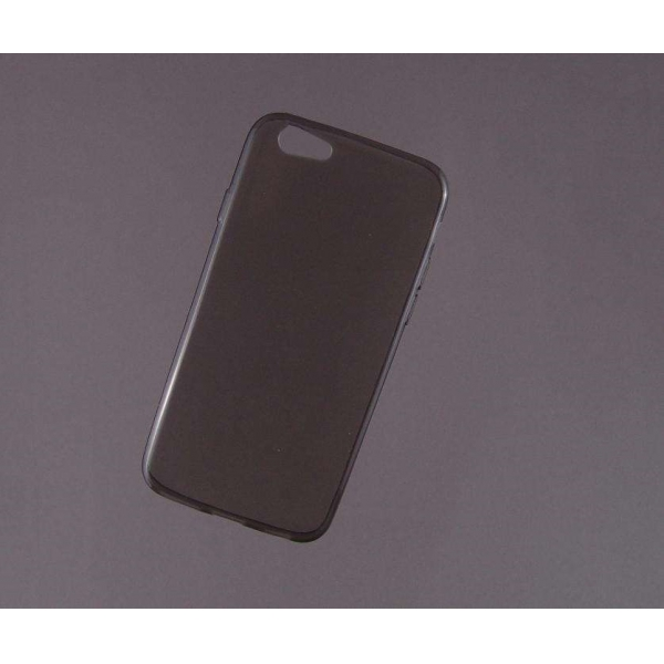 HUSA bumper iPhone 6 din gel siliconic TRANSPARENT fumuriu 1