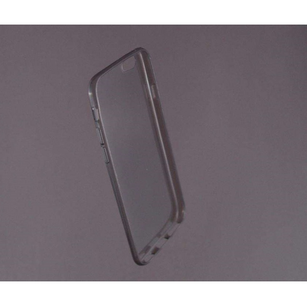 HUSA bumper iPhone 6 din gel siliconic TRANSPARENT fumuriu 0