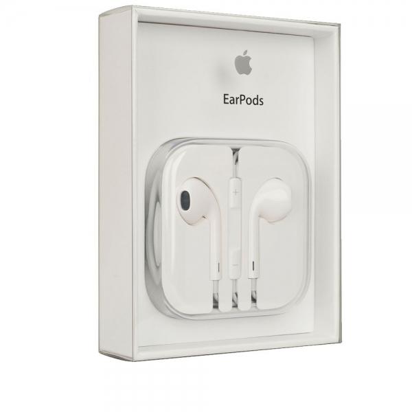 HANDSFREE iPhone Earpods - MD827ZM 3.5mm alb BLISTER - orig. 0