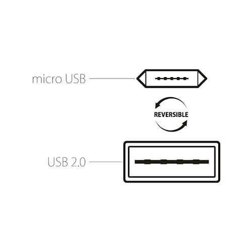 CABLU MICRO USB (REVERSIBIL) 100cm, BLACK [4]