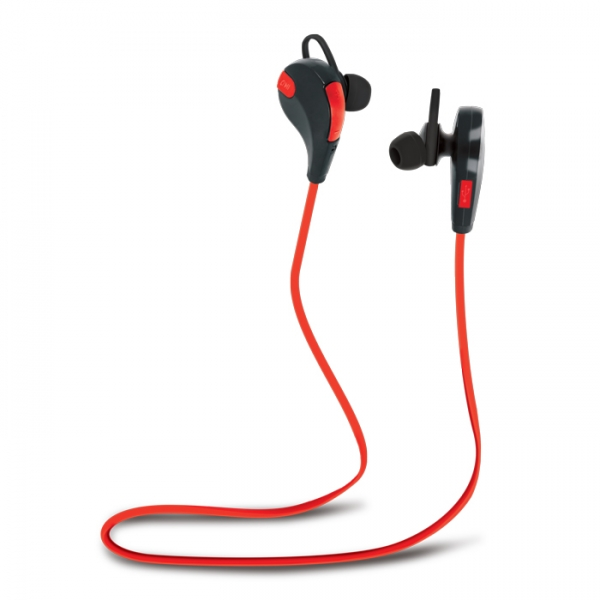 HANDSFREE BLUETOOTH FOREVER BSH-100, RED+BLACK 1