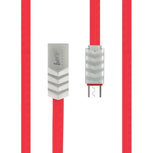 CABLU BEEYO WAVE MICRO USB, RED [1]
