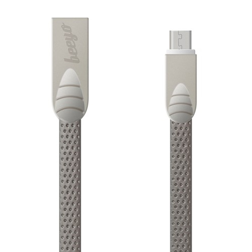 CABLU BEEYO FLAT MICRO USB, BLACK [1]