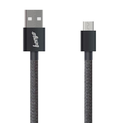 CABLU BEEYO TWINE MICRO USB, BLACK 1