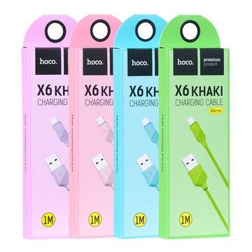 CABLU HOCO X6 KHAKI LIGHTNING, BLACK 0