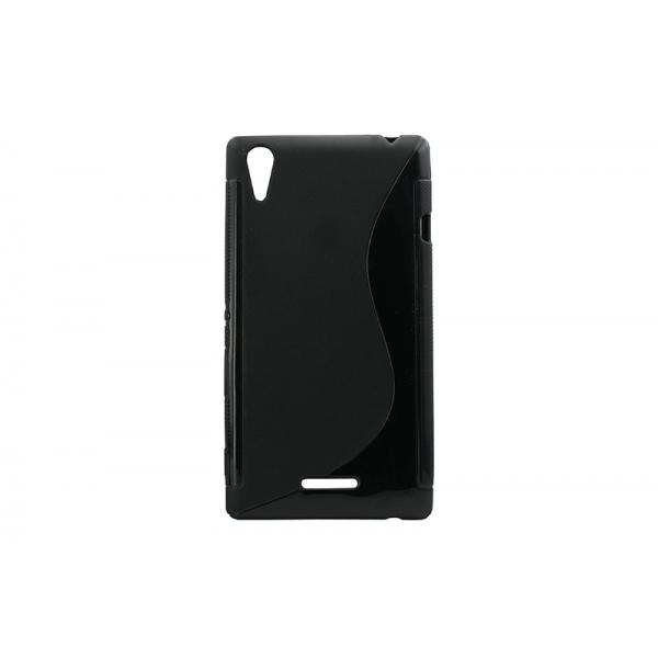 Husa Silicon Sony Xperia T3 Negru 0