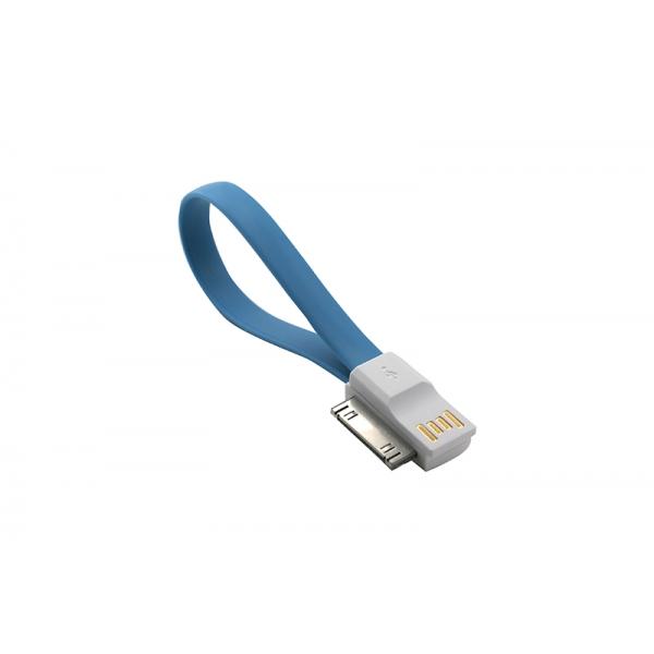 USB Cablu My-Magnet compatibil cu iPHONE 4 Albastru [0]