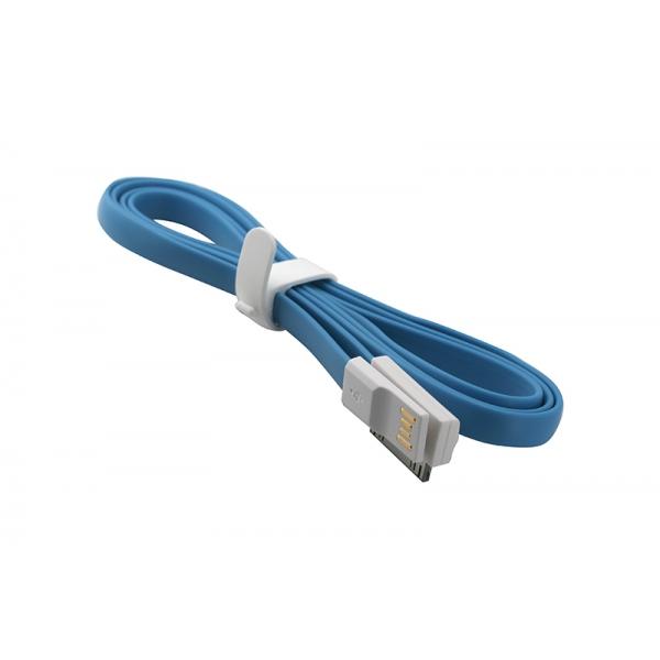 USB Cablu My-Trim compatibil cu iPHONE 4 Albastru 0
