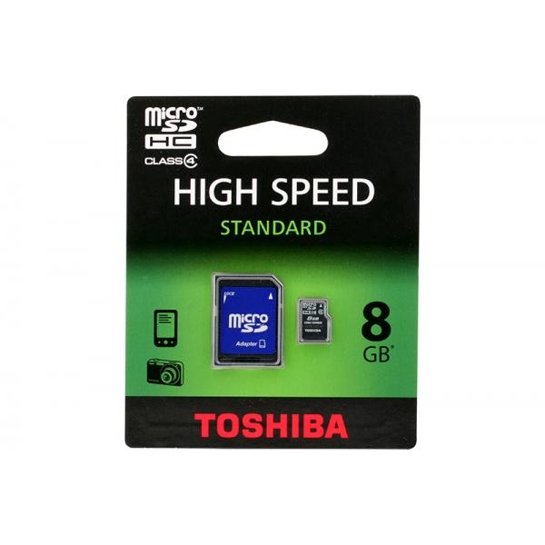 Card Toshiba Micro SD Clasa4 08GB 0