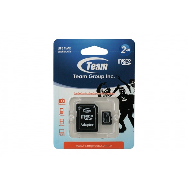 Card Team Micro SD Clasa4 02GB 0